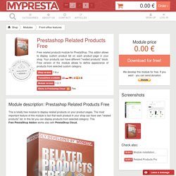 Related Products Free PrestaShop Module