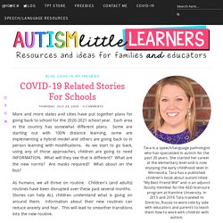 COVID-19 Related Stories For Schools