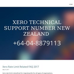 Xero Support Number NZ+64-04-8879113
