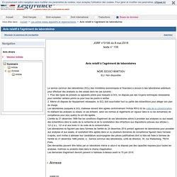 JORF 08/05/18 Avis relatif à l'agrément de laboratoires