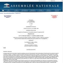 N°3258 - Projet de loi relatif aux droits des malades et à la qualité du système de santé