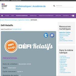 Défi Relatifs - Mathématiques