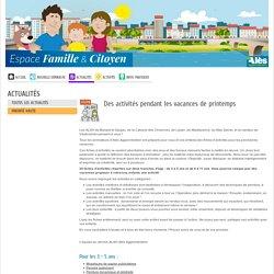 Alès Agglo- Des Fiches d'activités pour les enfants