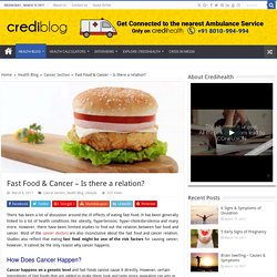 Is there any relation between Fast Food and Cancer?