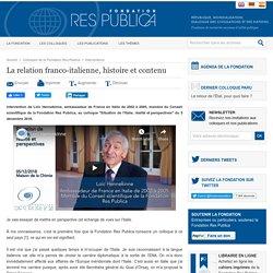 La relation franco-italienne, histoire et contenu