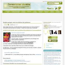 Surplus potager, mise en relation des jardiniers Consommer Durable