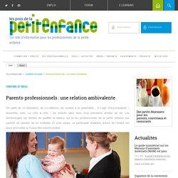 Relation entre parents et professionnels de la petite enfance