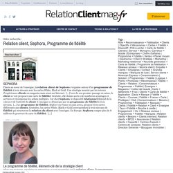 Relation client, Sephora, Programme de fidélité