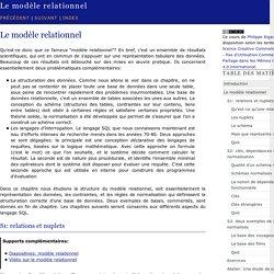 Le modèle relationnel — documentation Cours de bases de ...