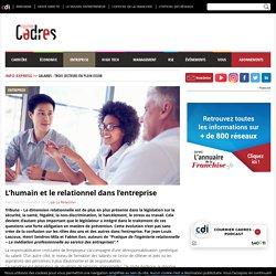 L'humain et le relationnel dans l'entreprise - Courrier cadres