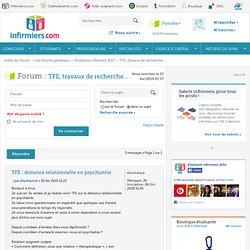 TFE : distance relationnelle en psychiatrie : TFE, travaux de recherche...