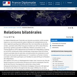 Relations bilatérales