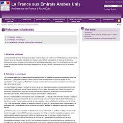 Relations bilatérales - La France aux Émirats arabes unis