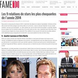 Les 9 relations de stars les plus choquantes de l'année 2014 - Fame10