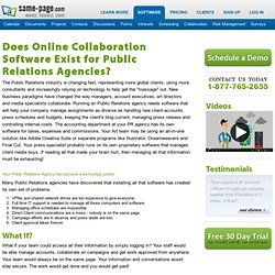 Public Relations Collaboration Software