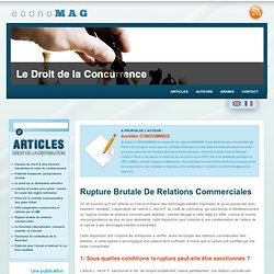 Rupture brutale de relations commerciales