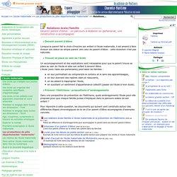 Relations école/famille- Pédagogie - Direction des services départementaux de l'éducation nationale du 17