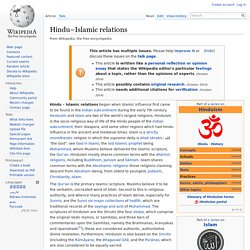Hindu–Islamic relations
