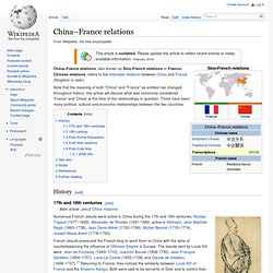 China–France relations
