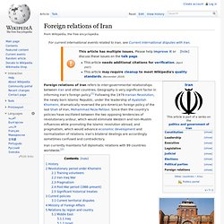 Foreign relations of Iran