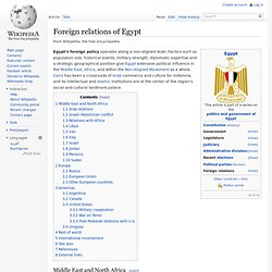 Foreign relations of Egypt