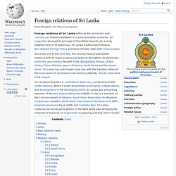 Foreign relations of Sri Lanka