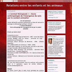 Relations entre les enfants et les animaux: août 2011