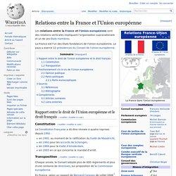 Relations entre la France et l'Union européenne