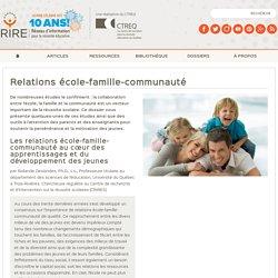 Relations école-famille-communauté - Thèmes