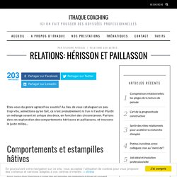 Relations: hérisson et paillasson