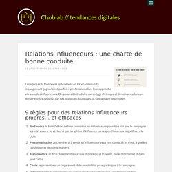 Relations influenceurs : une charte de bonne conduite