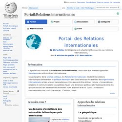 Portail:Relations internationales