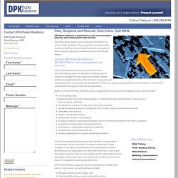 Public Relations Crisis Management - Crisis Pla...