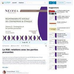 La RSE: relations avec les parties prenantes