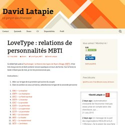 LoveType: relations de personnalités MBTI