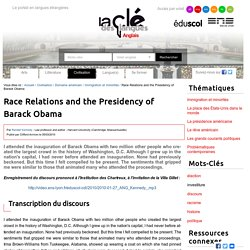 Race Relations and the Presidency of Barack Obama