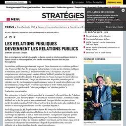 Les relations publiques deviennent les relations publics