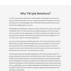 TWI Job Relations