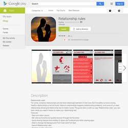 Relationship rules - Android Apps on Google Play