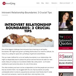 Introvert Relationship Boundaries: 3 Crucial Tips - Introvert Spring