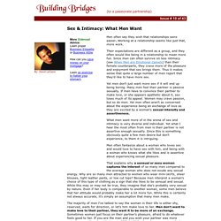 What Men Want in a Relationship - Building Bridges by David LeClaire