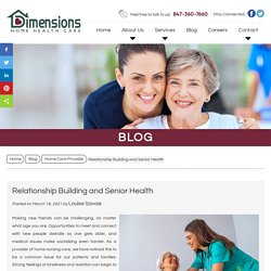 Relationship Building and Senior Health