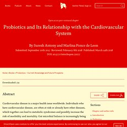 INTECH 14/03/18 Probiotics and Its Relationship with the Cardiovascular System