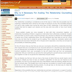 Why Is It Necessary For Availing The Relationship Counselling in Bristol