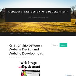 Relationship between Website Design and Website Development