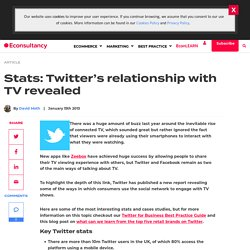 Stats: Twitter's relationship with TV revealed