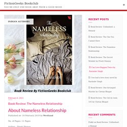 Book Review: The Nameless Relationship - FictionGeeks Bookclub