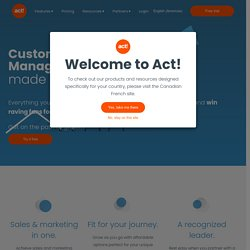 Sage ACT! - Contact and Customer Relationship Management Software