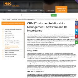CRM (Customer Relationship Management) Software and Its Importance
