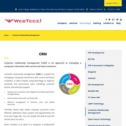 Customer Relationship Management (CRM) - Webtecz